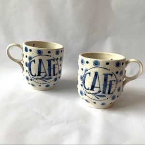 Anthropologie // Watercolor Stoneware Cafe Mug